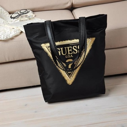 Guess Inspired Nylon Shopper Tote Bag | Malaysia Daily Sales