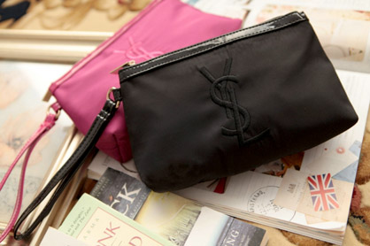 YSL Inspired Embroidered Zipped Pouch | Malaysia Daily Sales
